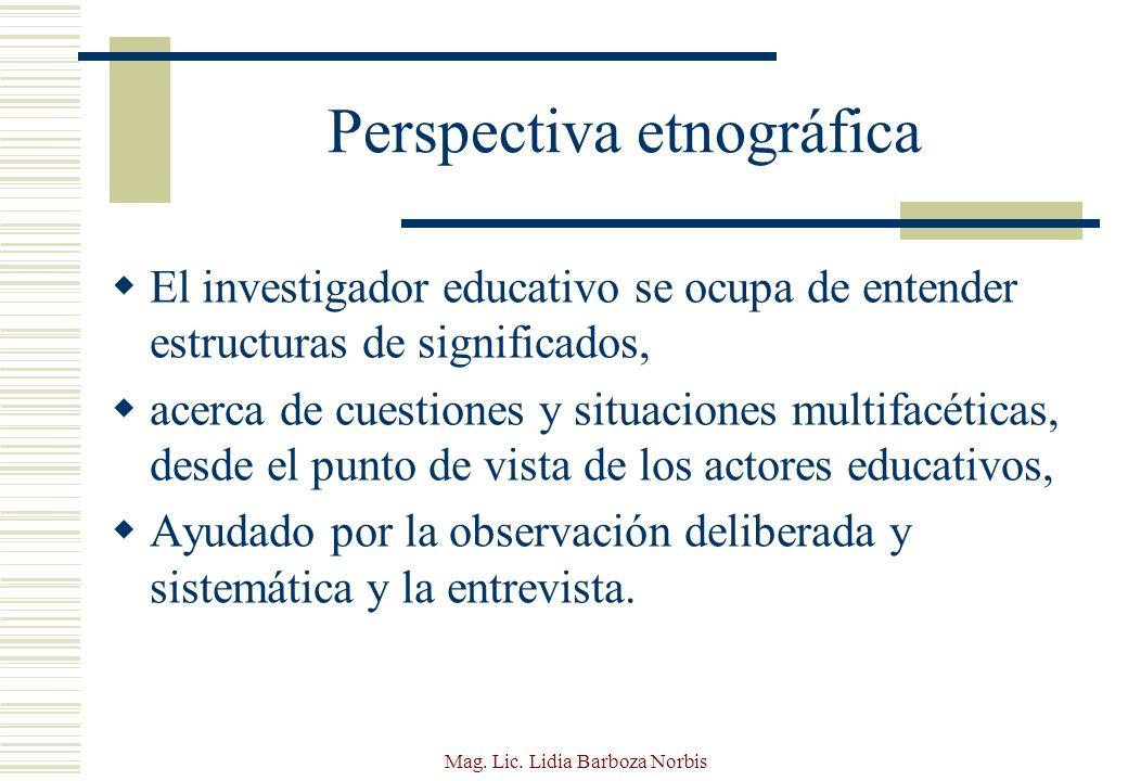 Perspectiva etnográfica