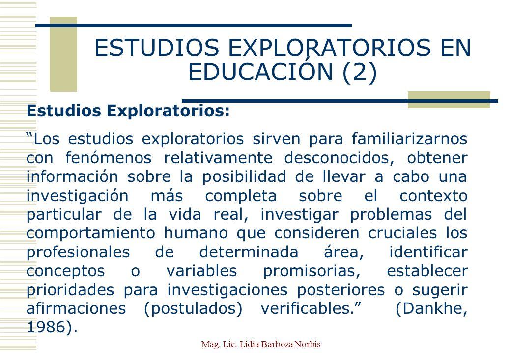 ESTUDIOS EXPLORATORIOS EN EDUCACIÓN (2)