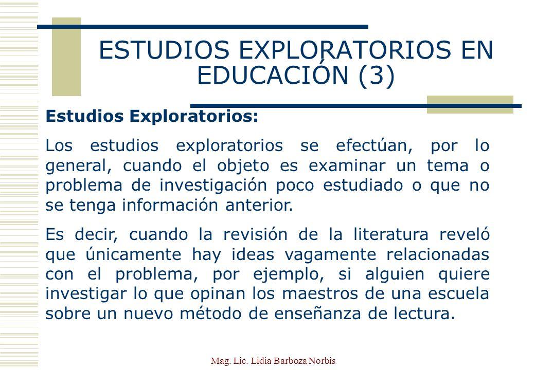 ESTUDIOS EXPLORATORIOS EN EDUCACIÓN (3)