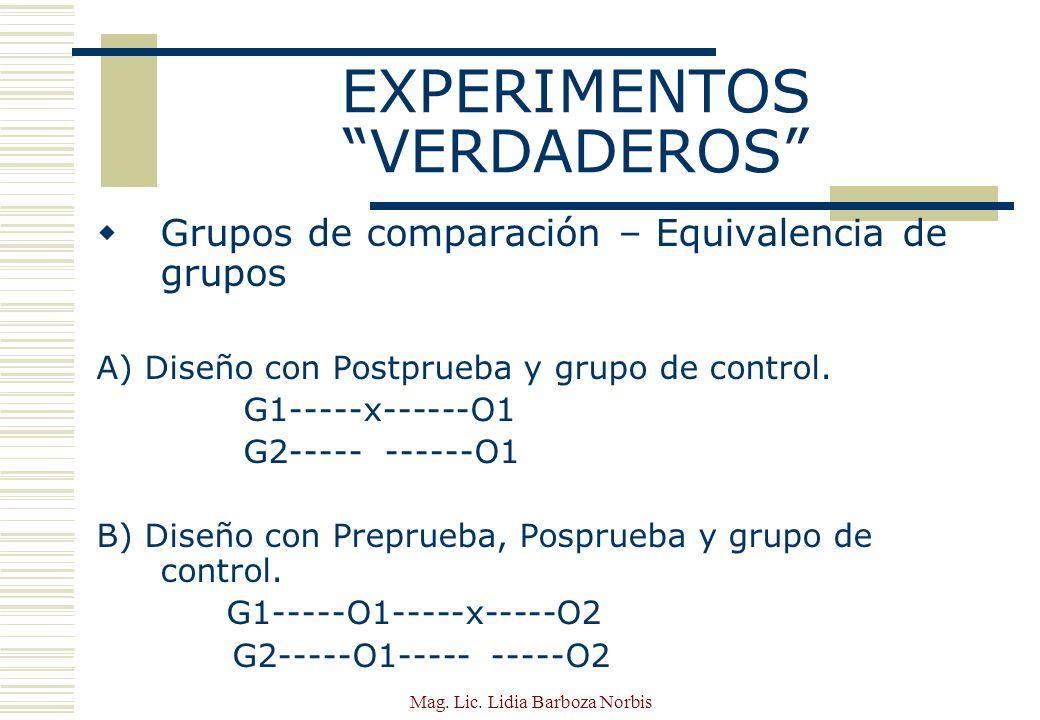 EXPERIMENTOS VERDADEROS