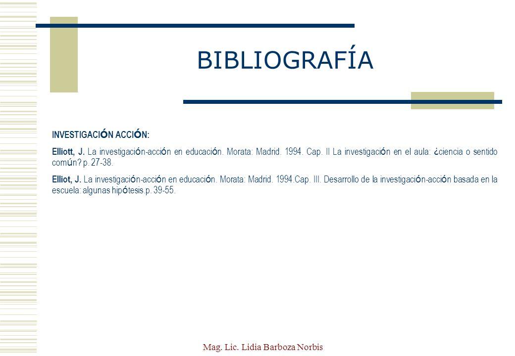 Mag. Lic. Lidia Barboza Norbis