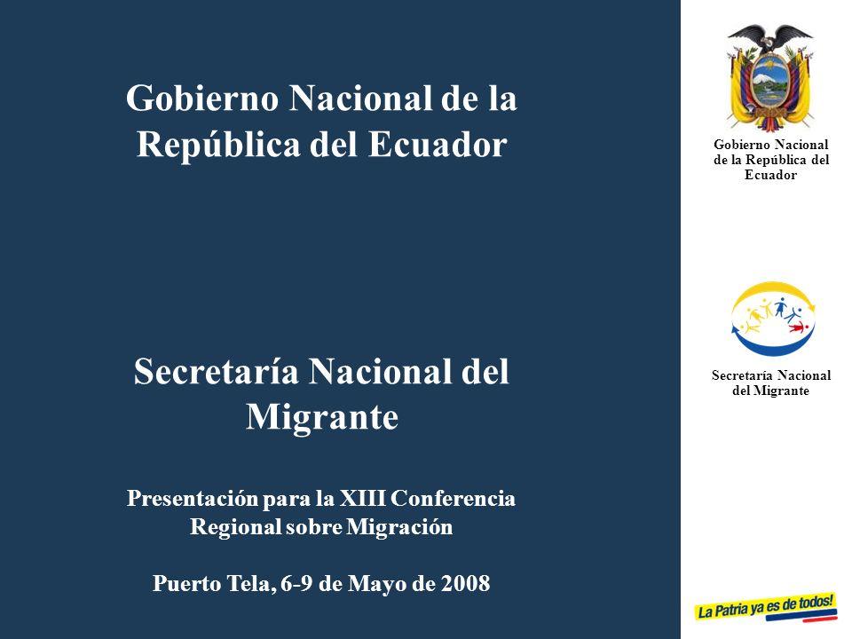 Gobierno Nacional de la República del Ecuador