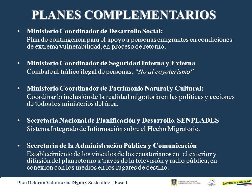 PLANES COMPLEMENTARIOS