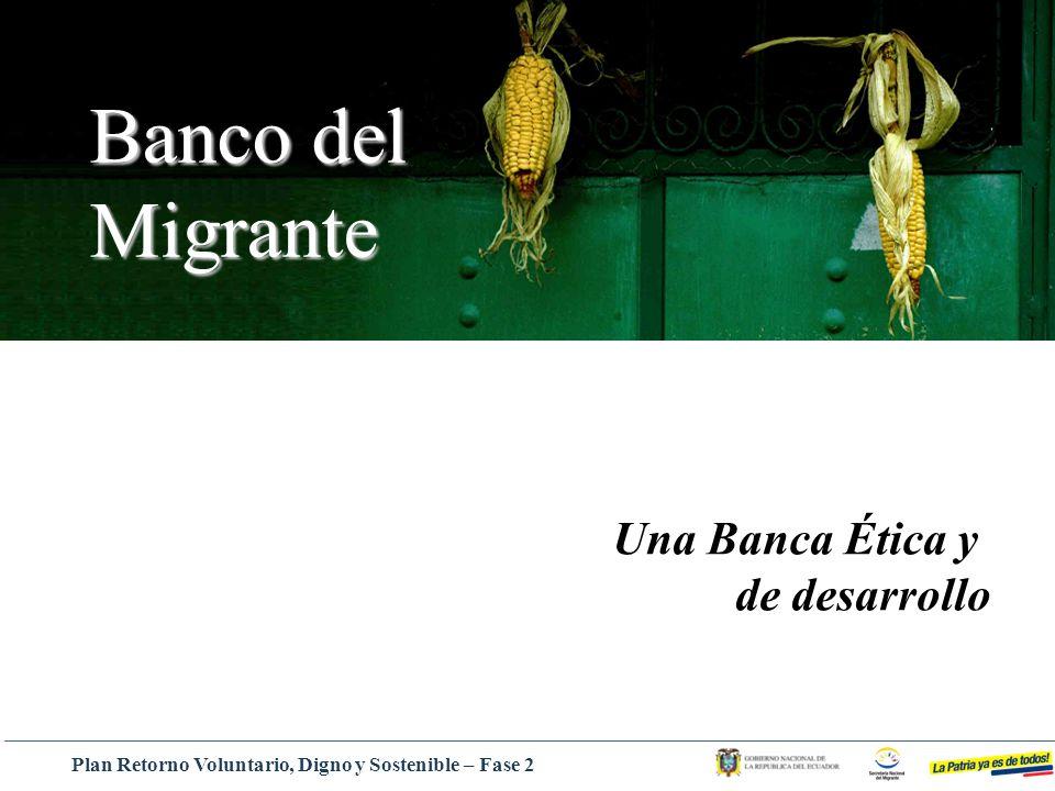 Banco del Migrante Una Banca Ética y de desarrollo