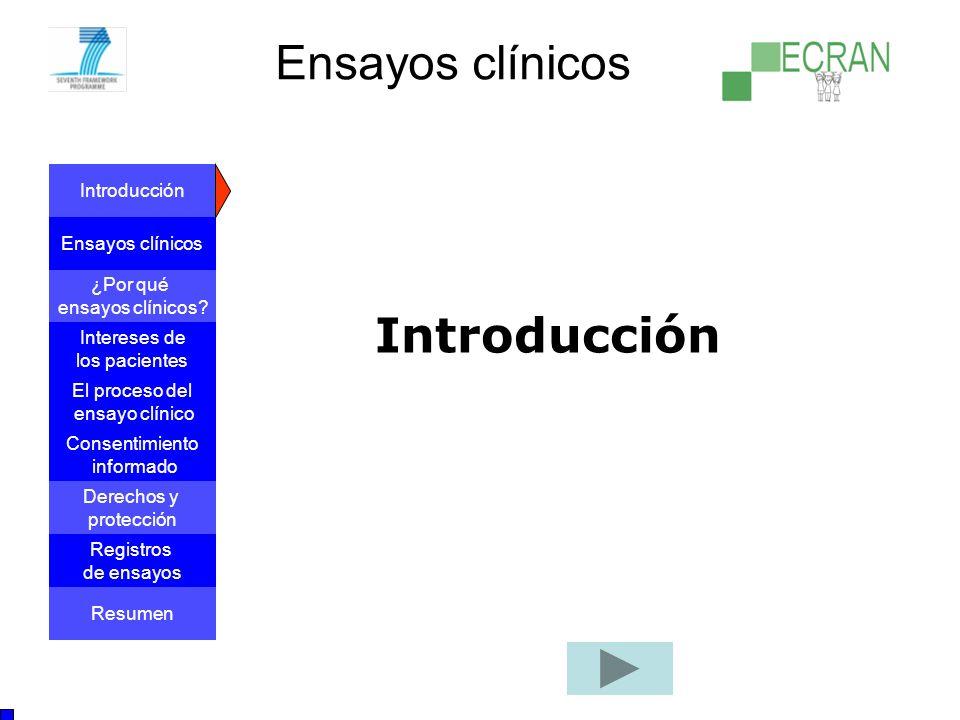 Ensayos clínicos Introducción