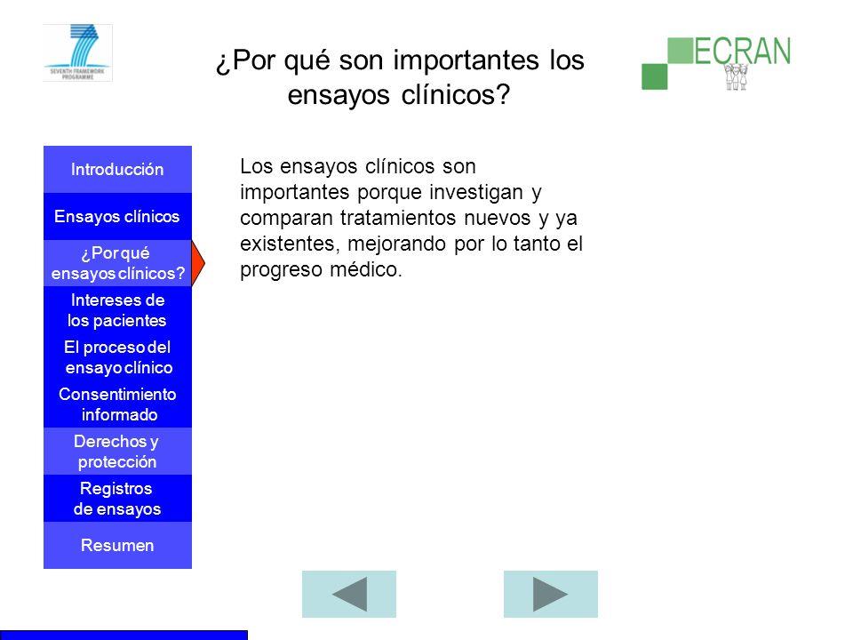 ¿Por qué son importantes los ensayos clínicos