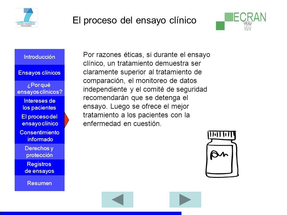 El proceso del ensayo clínico
