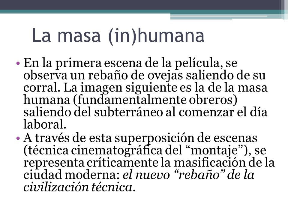 La masa (in)humana