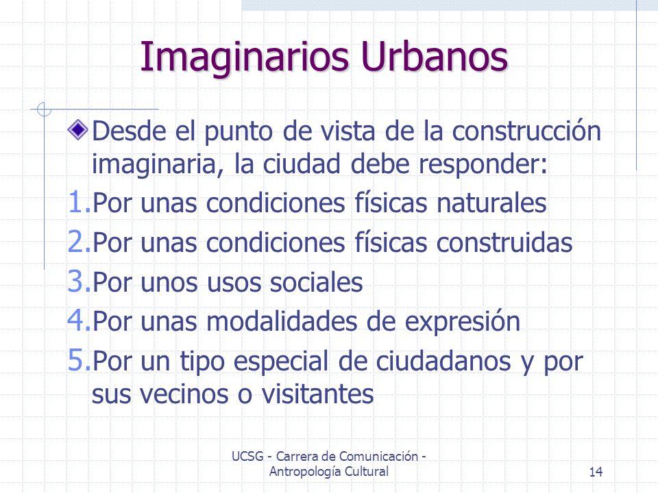 UCSG - Carrera de Comunicación - Antropología Cultural