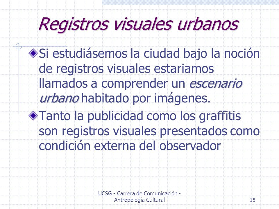Registros visuales urbanos