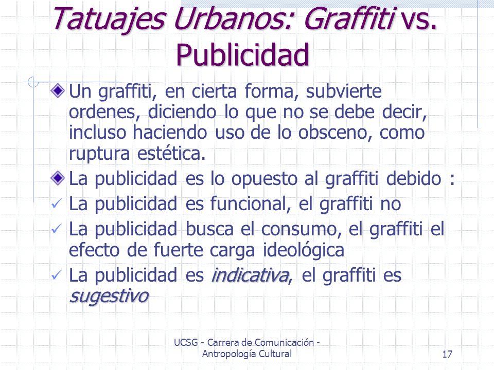 Tatuajes Urbanos: Graffiti vs. Publicidad