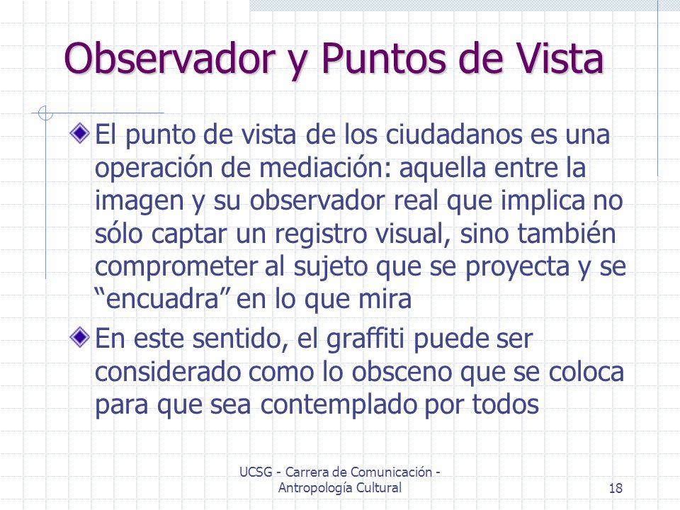 Observador y Puntos de Vista