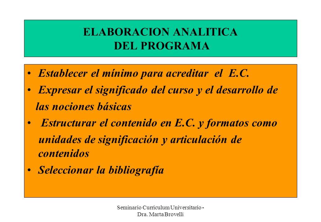 ELABORACION ANALITICA DEL PROGRAMA