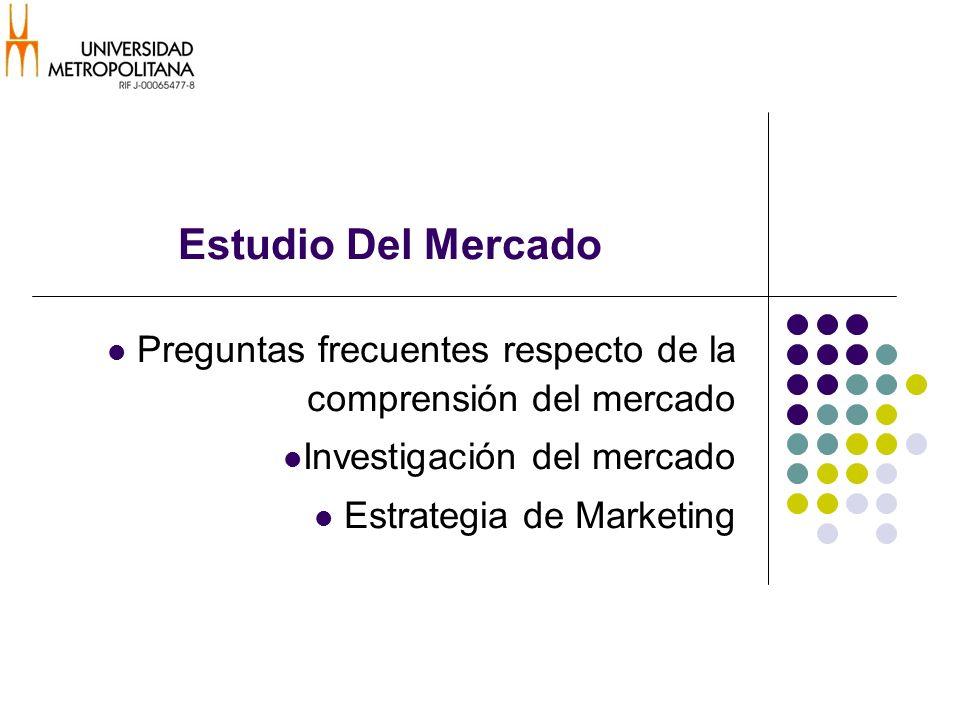 Estudio Del Mercado Preguntas frecuentes respecto de la comprensión del mercado. Investigación del mercado.