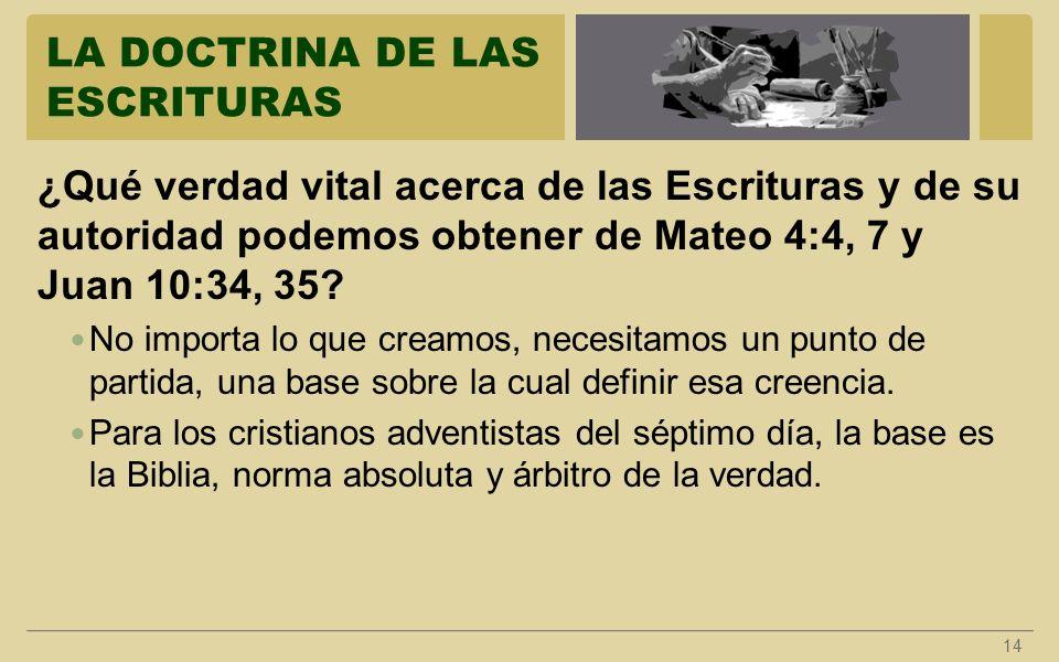 LA DOCTRINA DE LAS ESCRITURAS