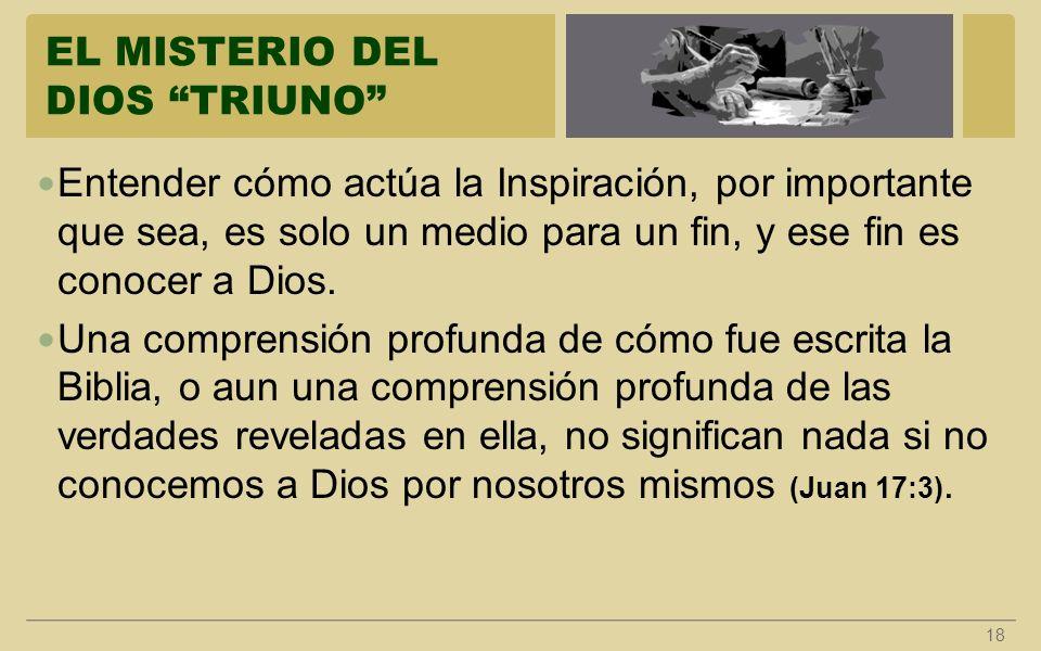 EL MISTERIO DEL DIOS TRIUNO
