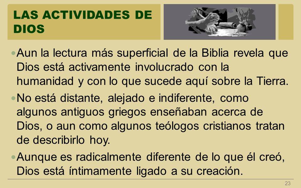 LAS ACTIVIDADES DE DIOS