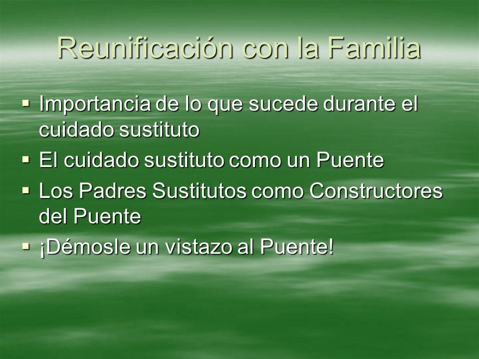 Reunificación con la Familia