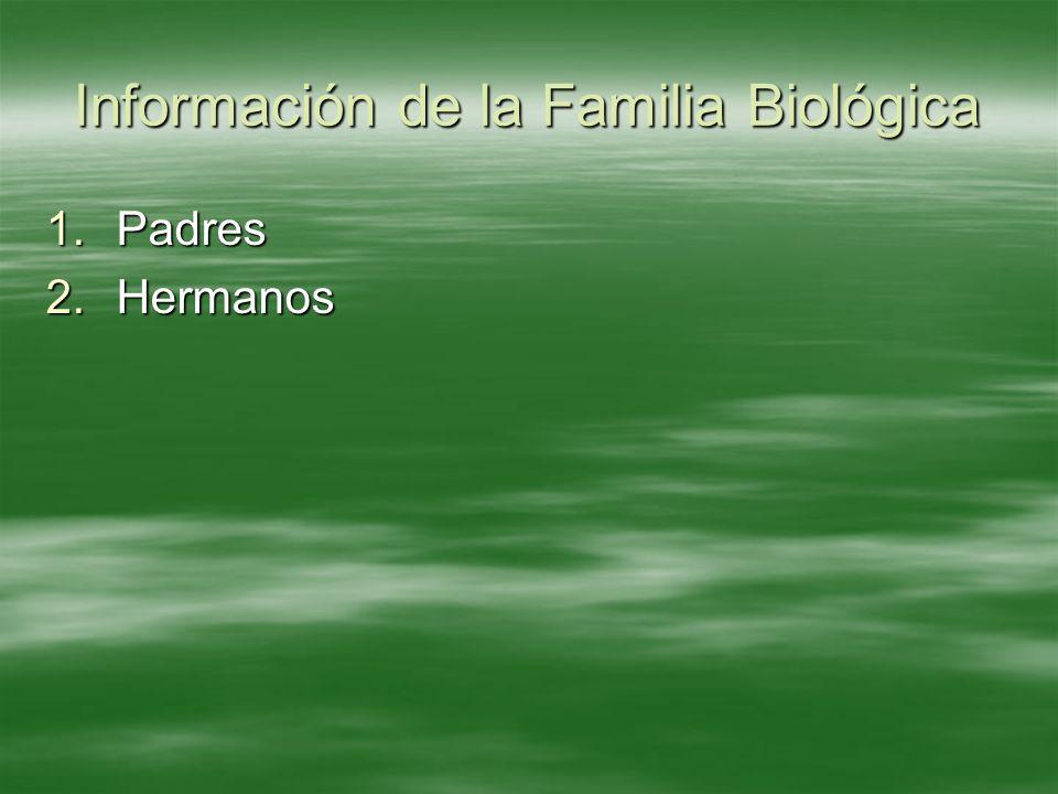 Información de la Familia Biológica