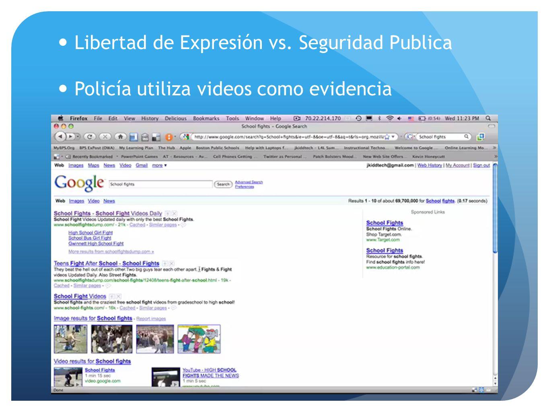 Libertad de Expresión vs. Seguridad Publica