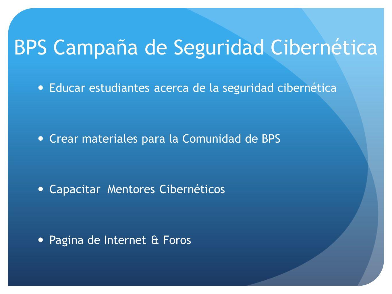 BPS Campaña de Seguridad Cibernética