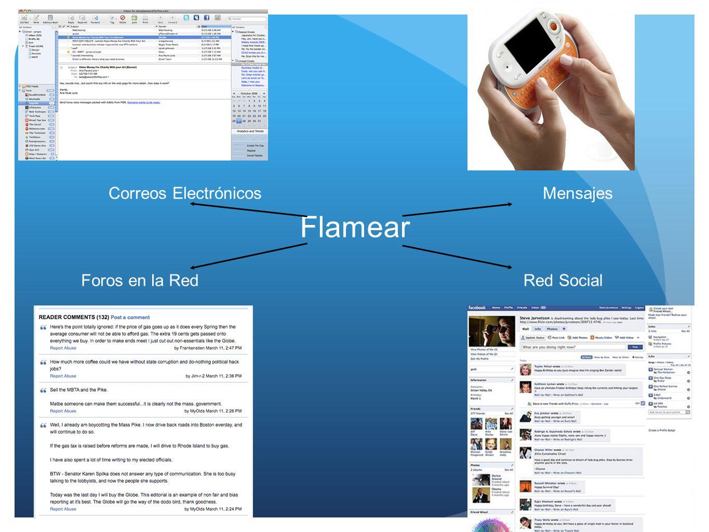Correos Electrónicos Mensajes Flamear Foros en la Red Red Social