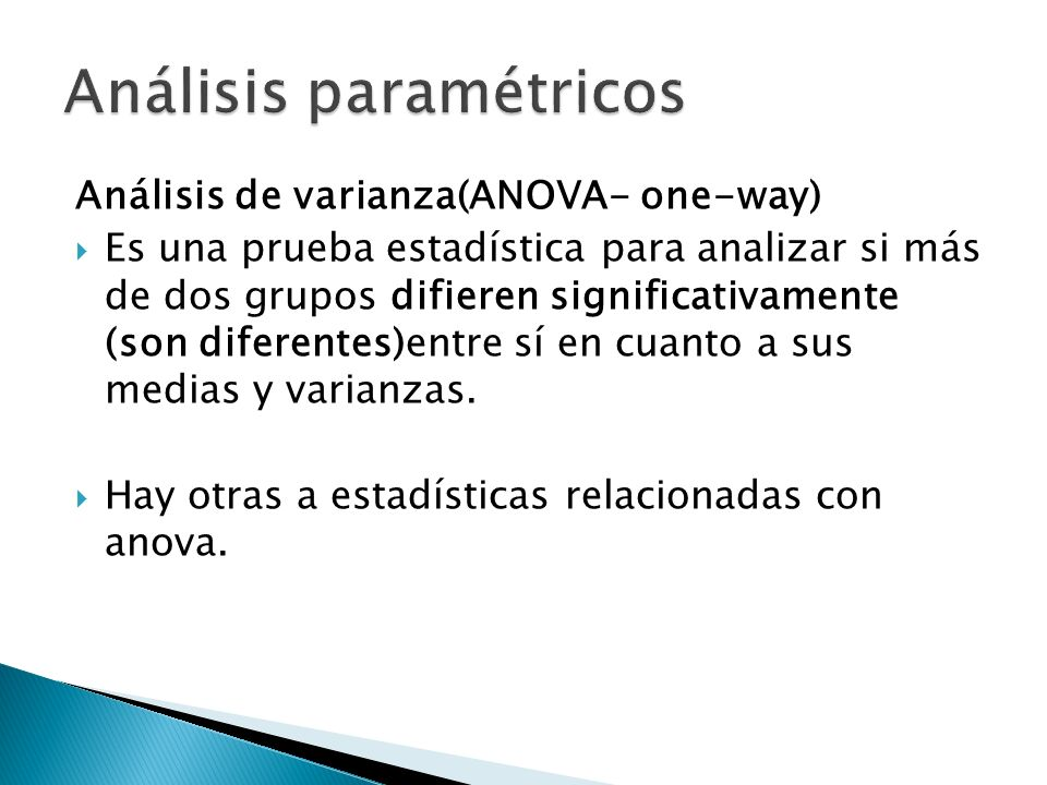 Análisis paramétricos