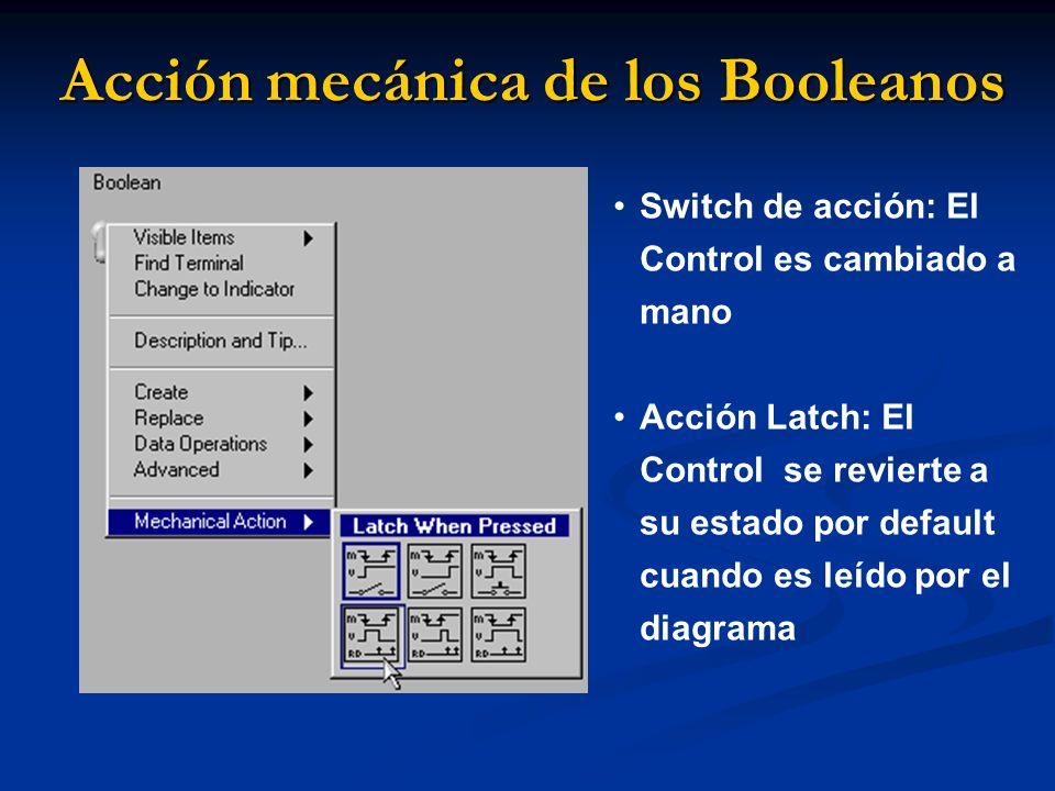 Acción mecánica de los Booleanos