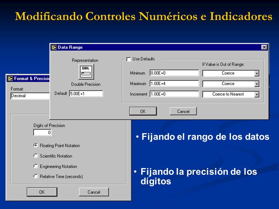 Modificando Controles Numéricos e Indicadores