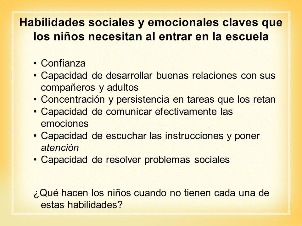 Habilidades sociales y emocionales claves que los niños necesitan al entrar en la escuela