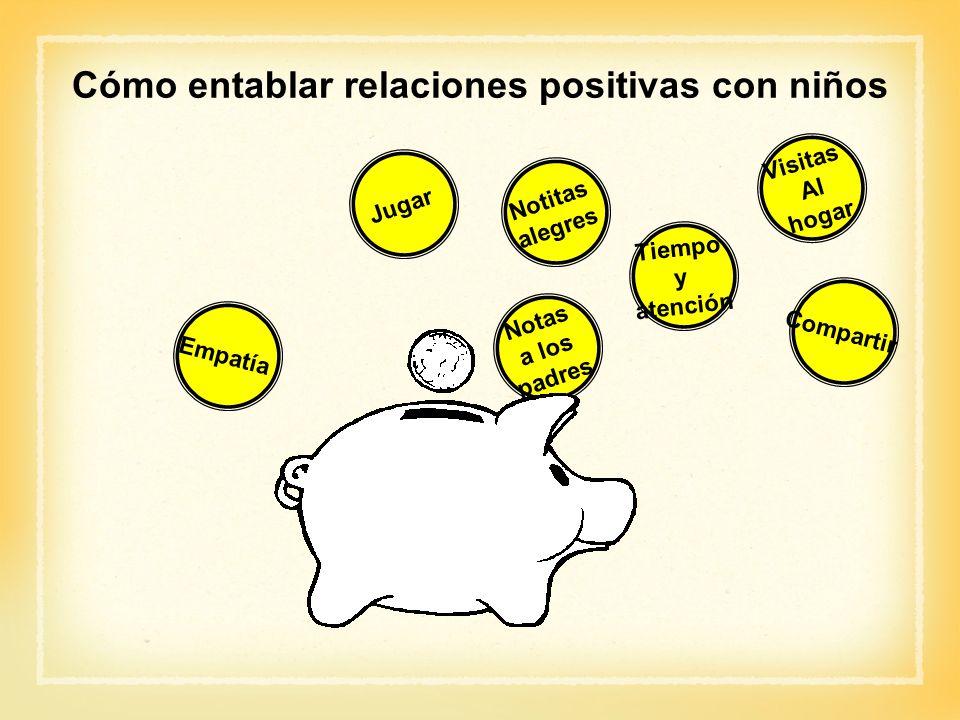 Cómo entablar relaciones positivas con niños