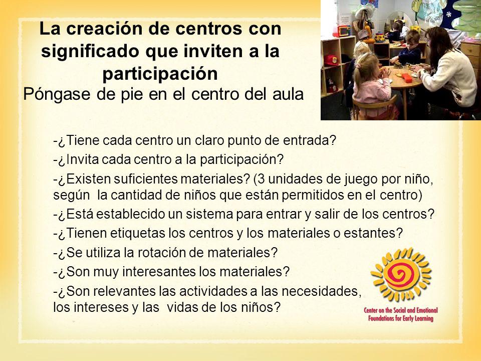 La creación de centros con significado que inviten a la participación