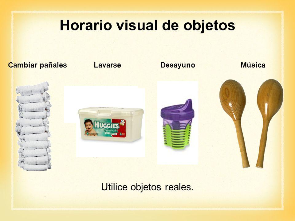 Horario visual de objetos
