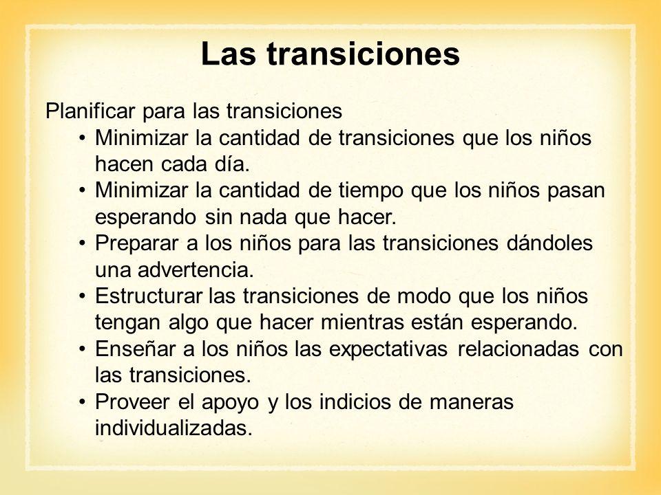 Las transiciones Planificar para las transiciones