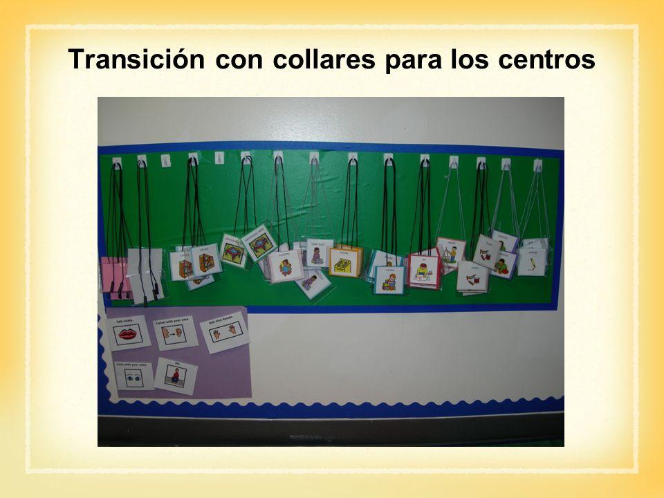 Transición con collares para los centros