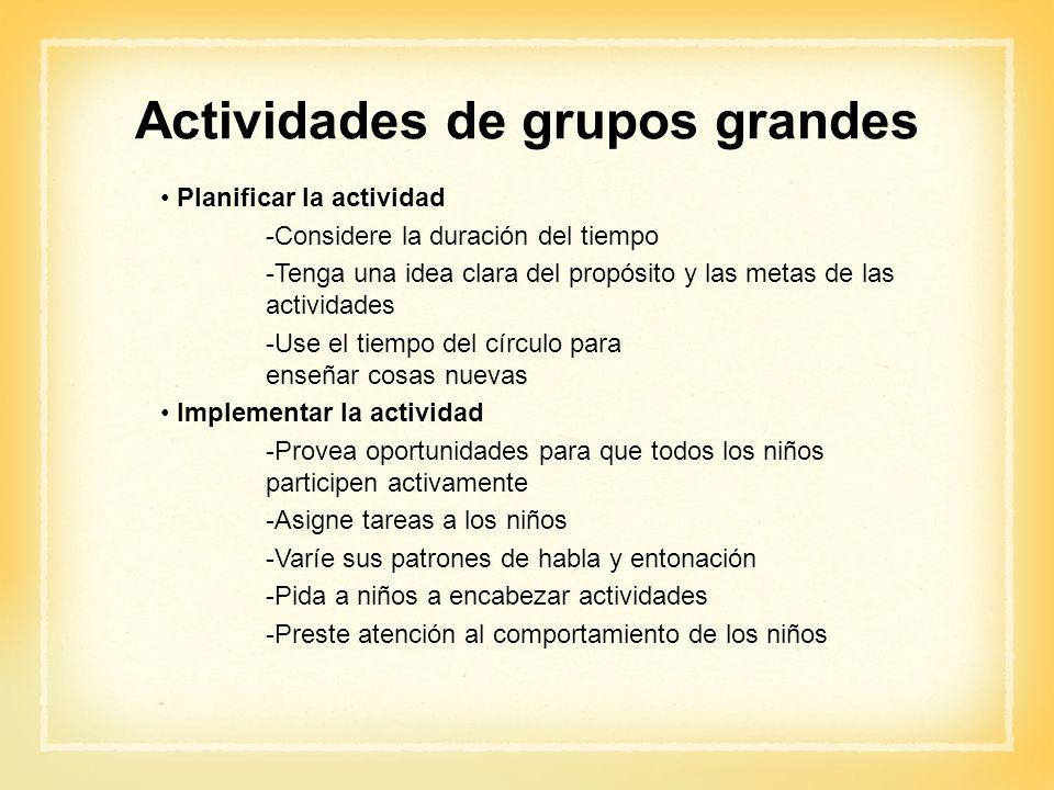 Actividades de grupos grandes