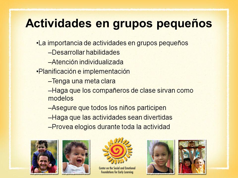 Actividades en grupos pequeños