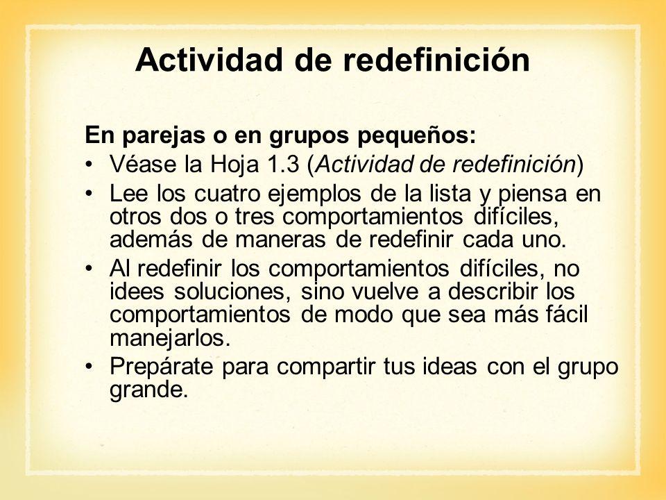 Actividad de redefinición