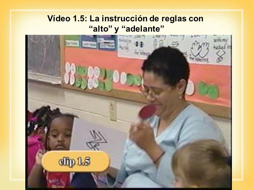 Vídeo 1.5: La instrucción de reglas con alto y adelante