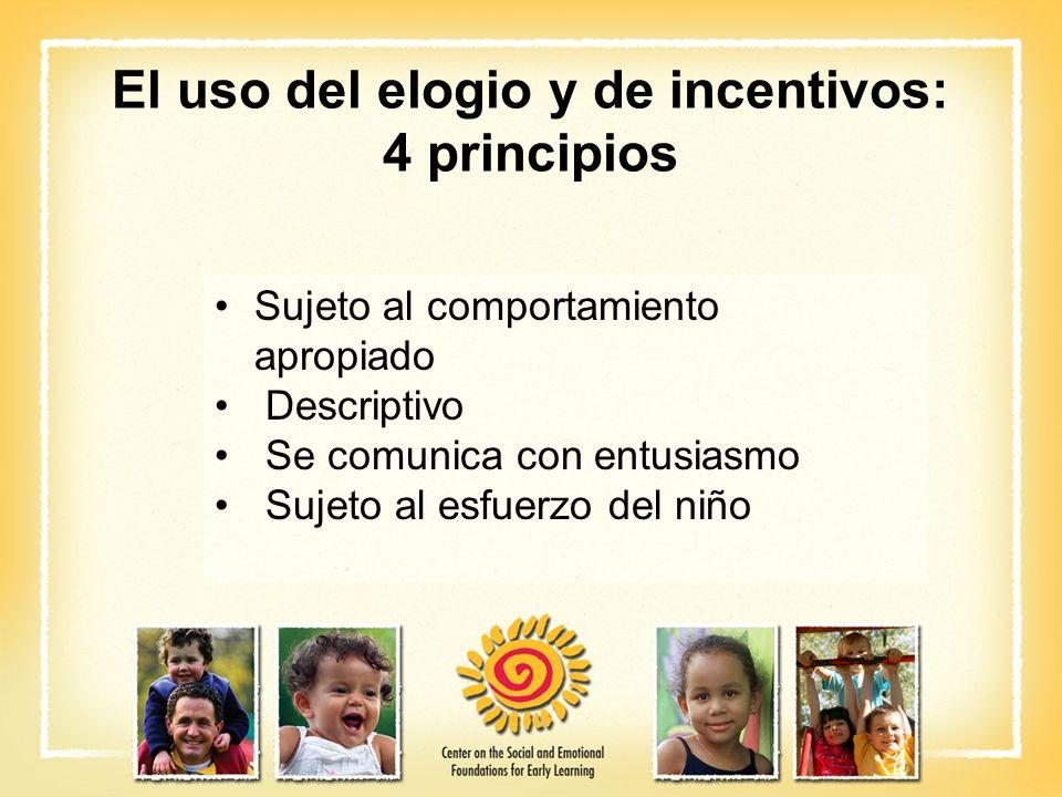 El uso del elogio y de incentivos: 4 principios