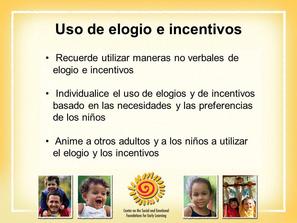 Uso de elogio e incentivos