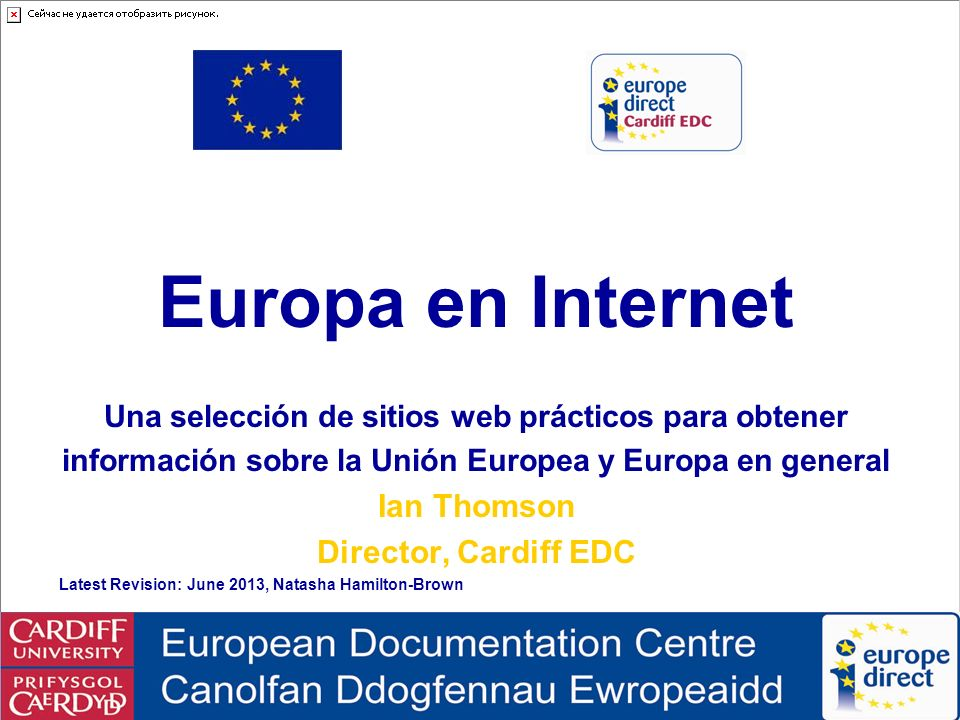 Europa en Internet Europe on the Internet Ian Thomson