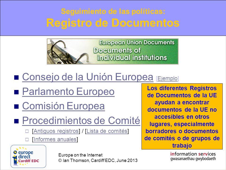 Seguimiento de las políticas: Registro de Documentos