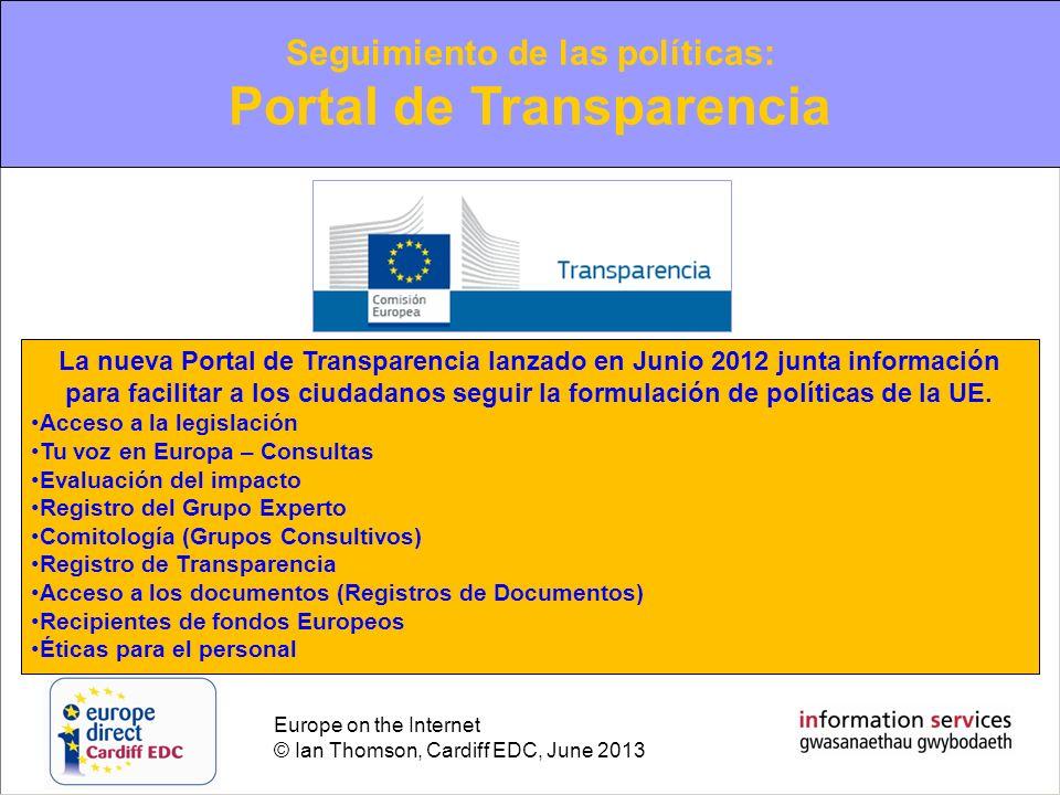 Seguimiento de las políticas: Portal de Transparencia