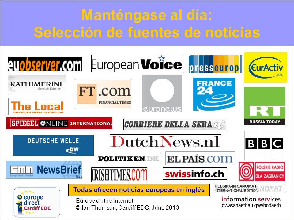 Manténgase al día: Selección de fuentes de noticias