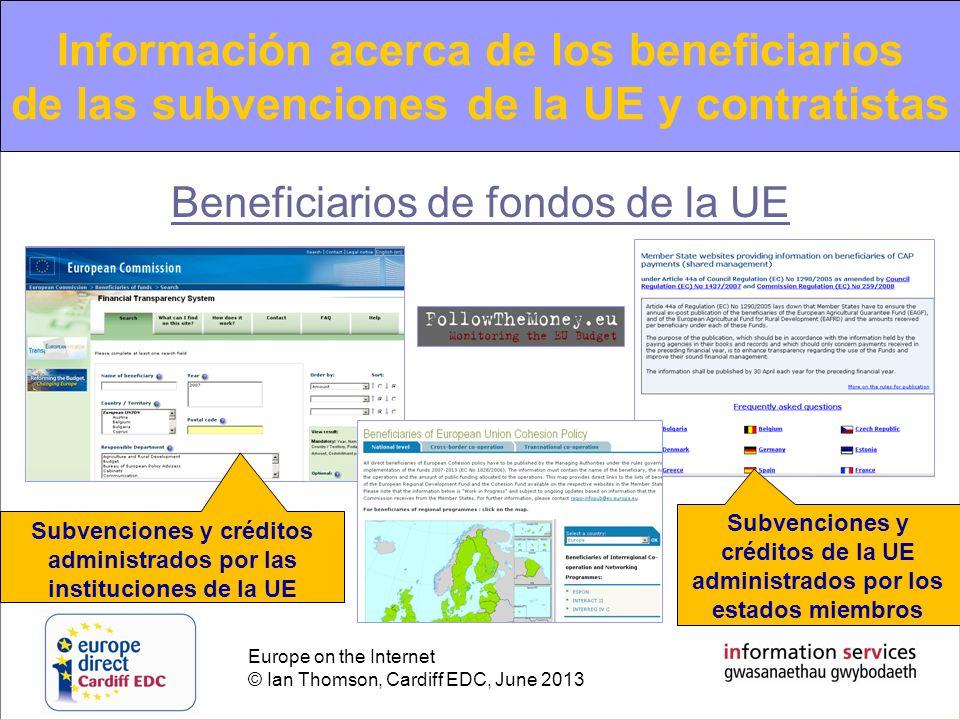 Información acerca de los beneficiarios