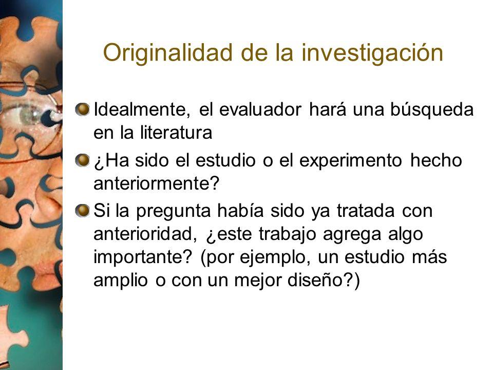 Originalidad de la investigación