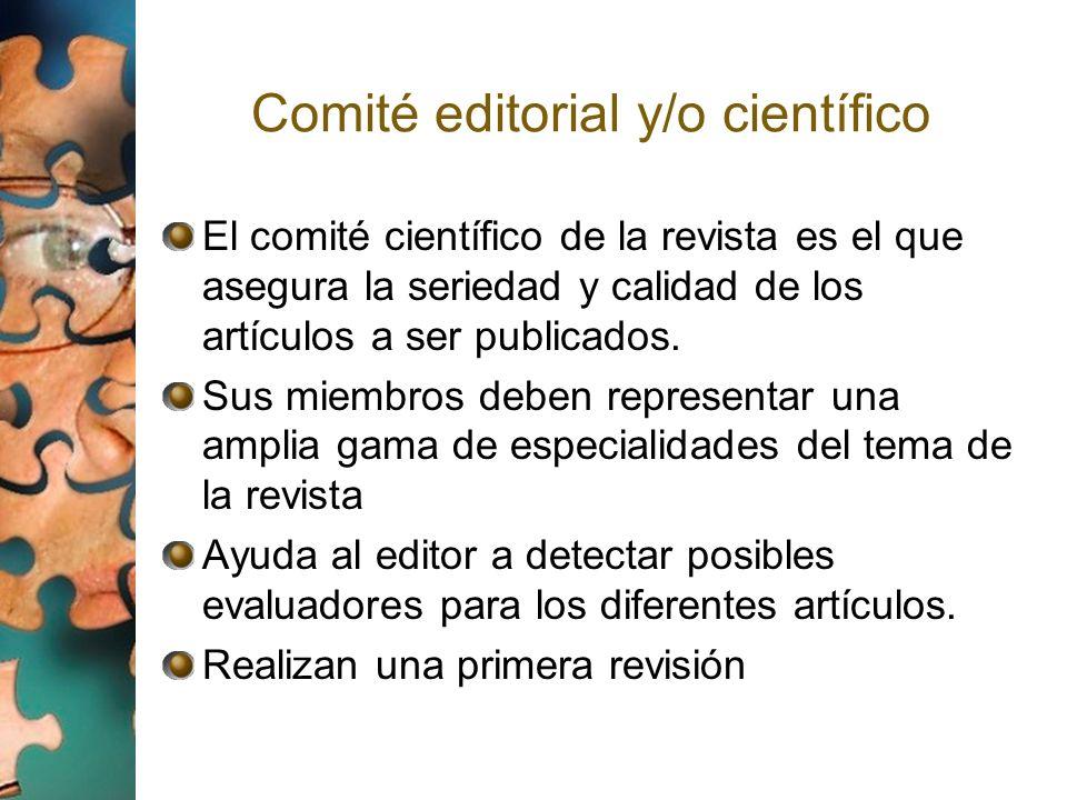Comité editorial y/o científico