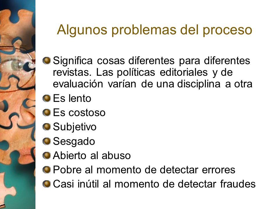 Algunos problemas del proceso