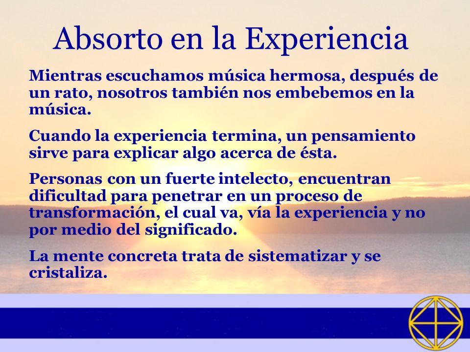 Absorto en la Experiencia
